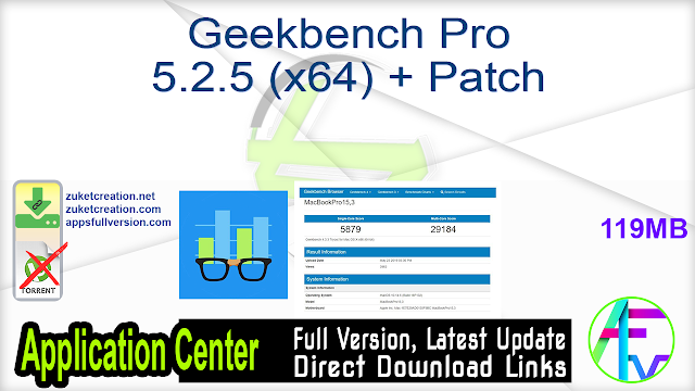Geekbench Pro 5.2.5 (x64) + Patch