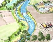 Afbeelding 1. Ecologische sleutelfactoren (ESF) voor stromende wateren; links geordend in een stroomgebied, rechts geordend naar hiërarchie. In: Systeemanalyse biedt concrete handvatten voor beheer na herinrichting beeksysteem