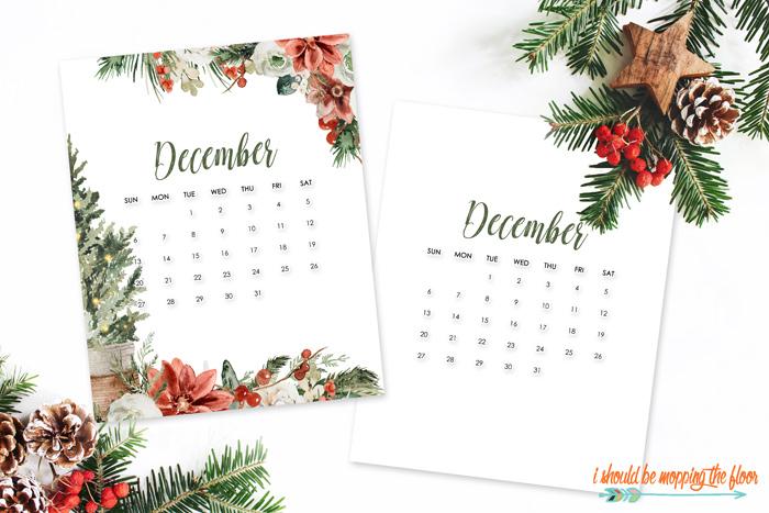 December 2020 Calendars