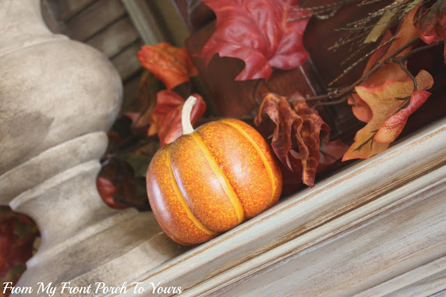 French -Country -Fall- Mantel-Pumpkins- From My Front Porch To Yours