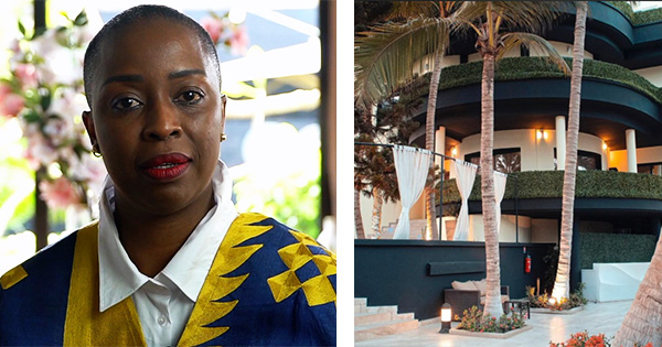 Souadou Niang, owner of Palms Luxury Boutique Hotel