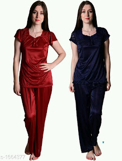 Comfy Womens Satin Night Suits