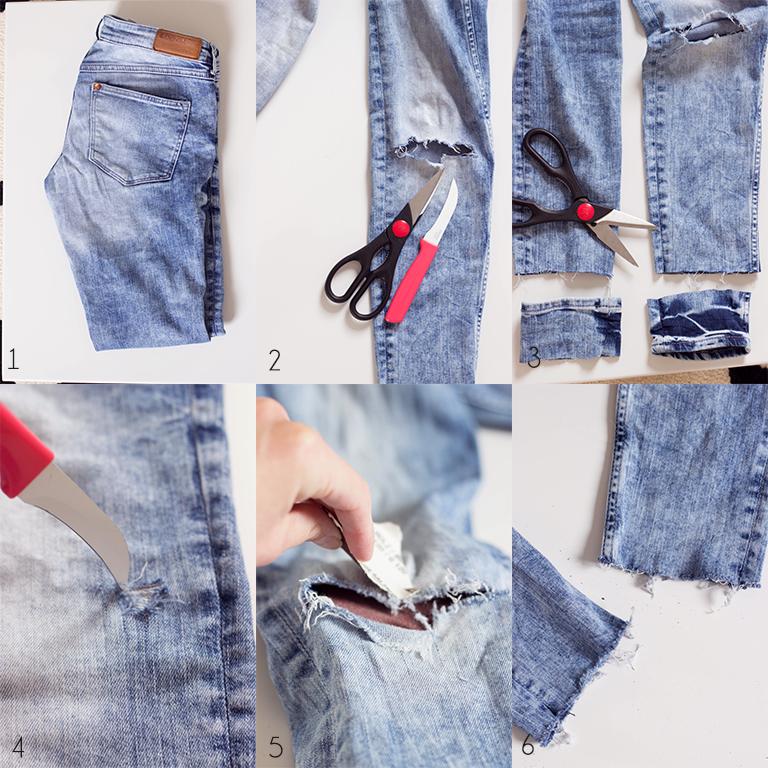 Bilder Zu Jeans Used Look Selber Machen