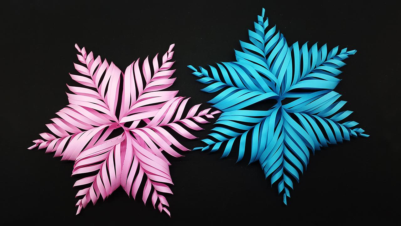 Colors Paper: DIY 3D Paper Snowflake Make for Christmas ...