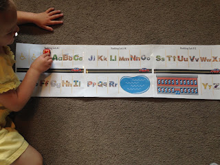 letter review activity for preschooler