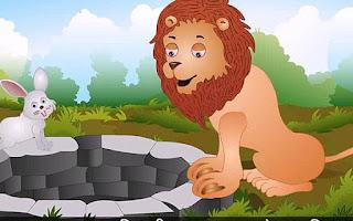 चालाक खरगोश और शेर की कहानी
