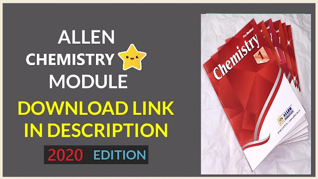 Allen NEET Chemistry Module pdf Download 2020 Edition