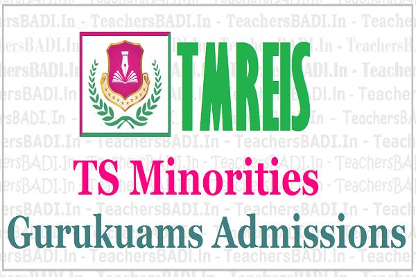 TS Minorities Gurukuams Admissions 2019,TMREIS Residential School Admissions 2019