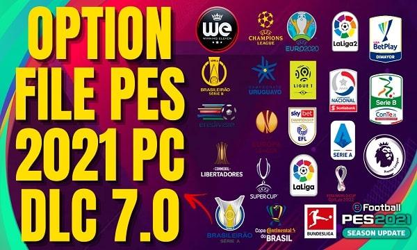 OPTION FILE PES 2021 PC DLC 7.0