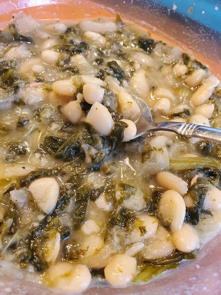 italian greens and beans recipe using escarole and cannelini beans