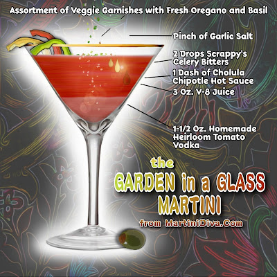 GARDEN IN A GLASS MARTINI Recipe with Ingredients and Instructions