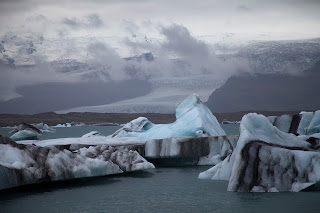 A glacial lagoon in Iceland