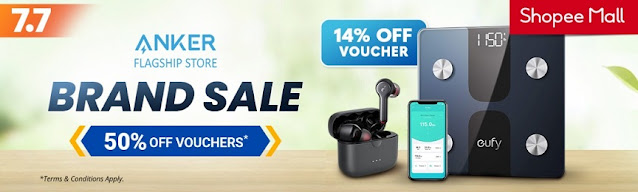 ANKER Brand Sale at Shopee Mall