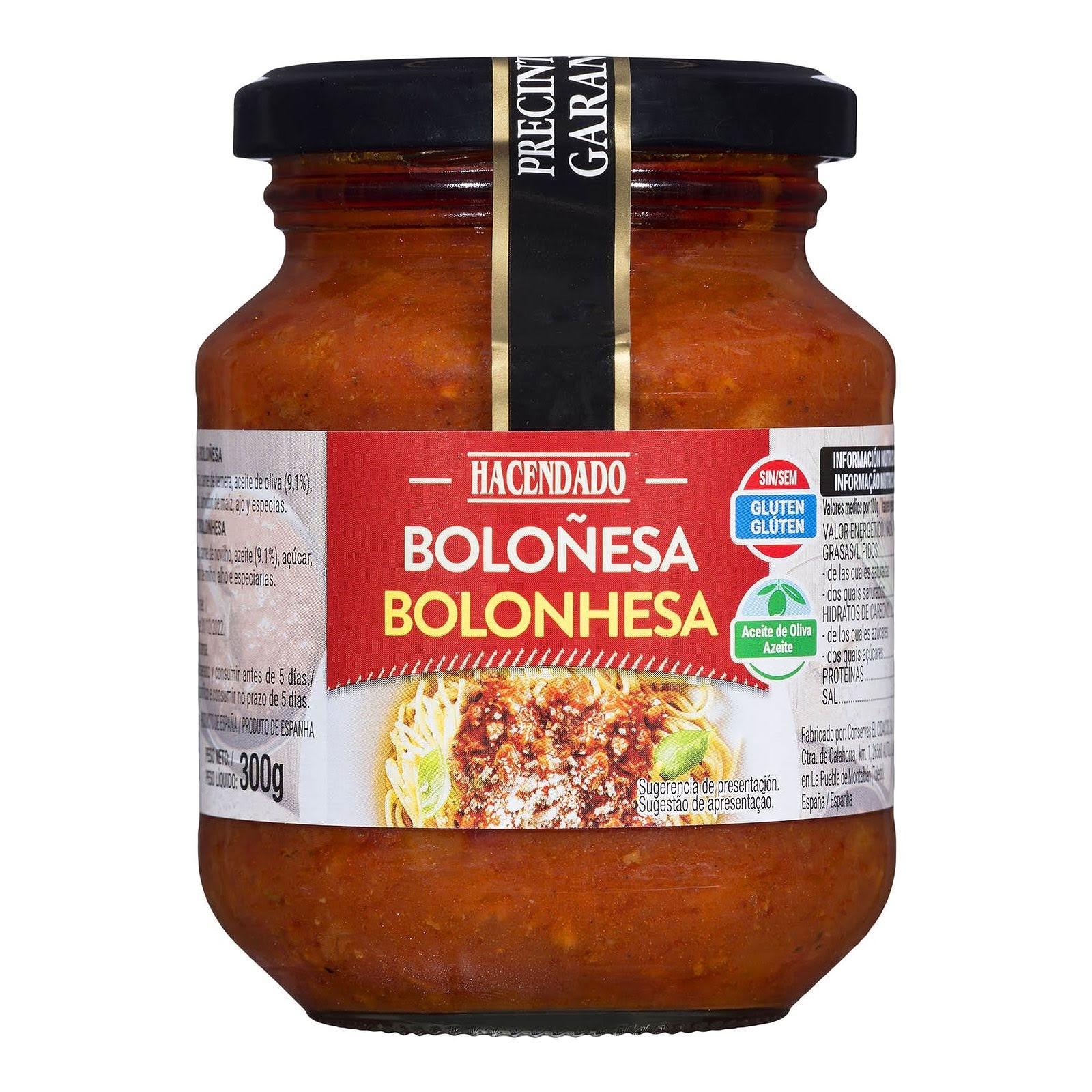 Salsa boloñesa Hacendado