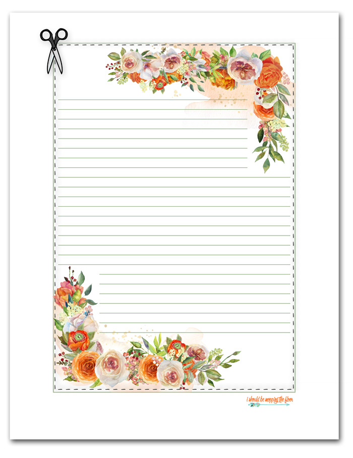 Free Printable Floral Stationery