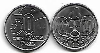 Moeda de 50 centavos, 1989
