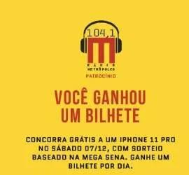 Cadastrar Promoção Metrópoles IPhone 11 Pro - Participe Grátis