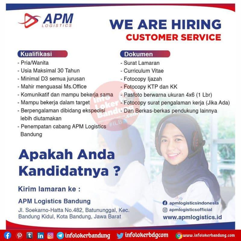 Lowongan Kerja APM Logistics Bandung Agustus 2021
