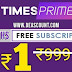 TimesPrime Loot- 3 Months Membership Absolutely For FREE | ₹250/Refer