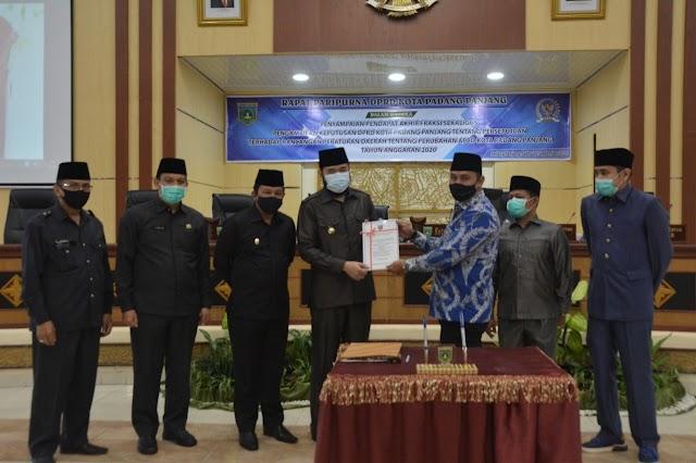 DPRD Kota Padang Panjang Setujui Ranperda Perubahan APBD 2020
