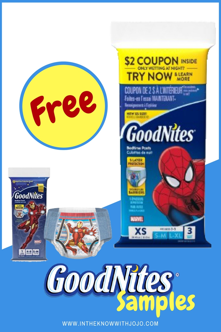 Have a good night with your baby with the #Free #GoodNites sample.