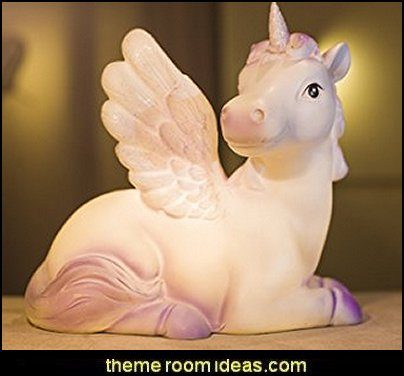 Purple Unicorn Bedroom Light Nightlamp  Bedside Light  Desk Lamp