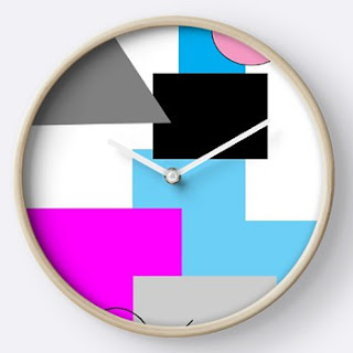 80s Block Colour Clock