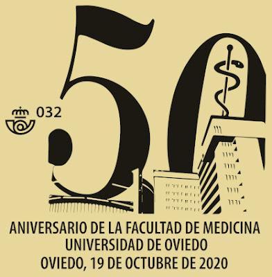 matasellos, filatelia, facultad, medicina, Oviedo