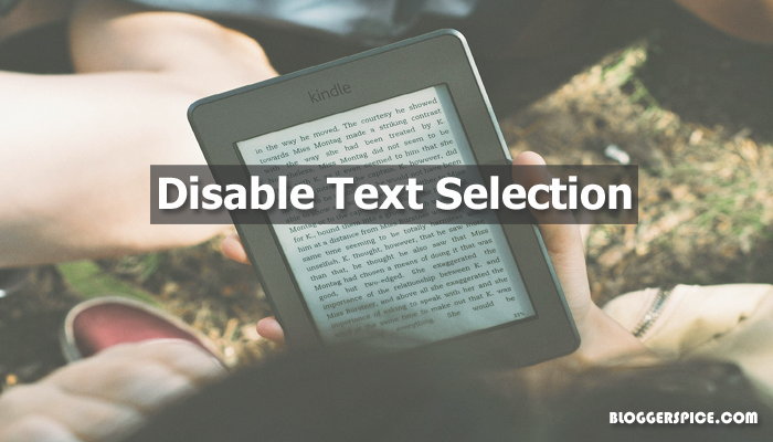 How to disable text selection to stop content copy?