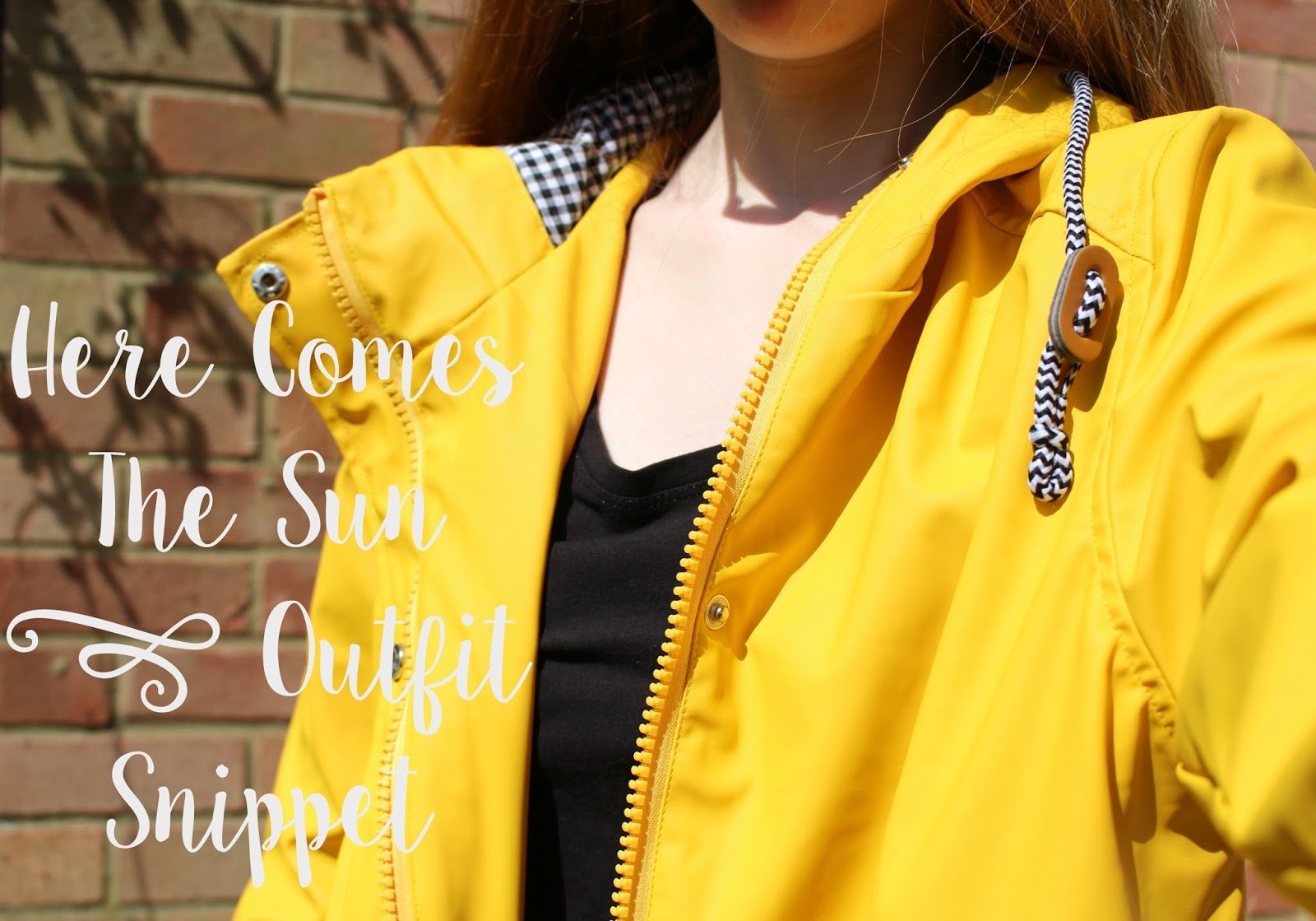 Here Comes The Sun | Outfit Snippet topshop yellow rain mac Uk
