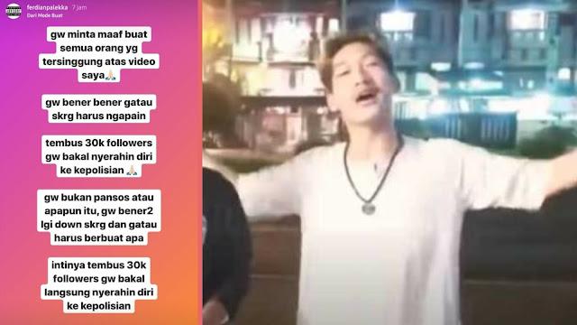 Youtuber Ferdian Paleka: Tembus 30 Ribu Followers Dulu, Baru Gue Nyerah ke Polisi