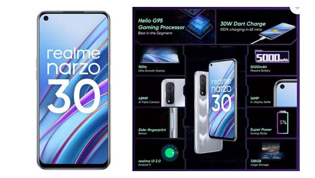 Realme Narzo 30 4G Specifications with Launch Date, Price in India