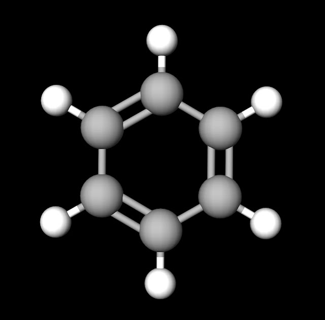 Benzene Ball and Stick Model
