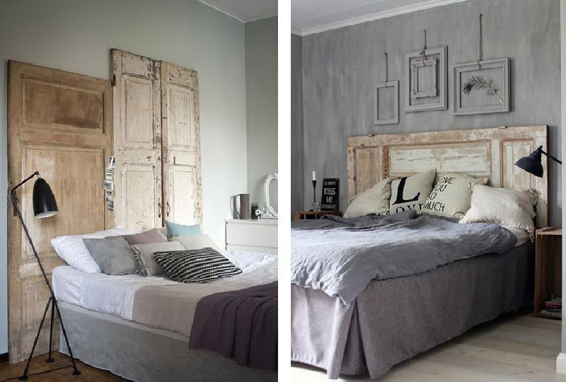 Riciclo creativo: la testiera del letto è una vecchia porta!
