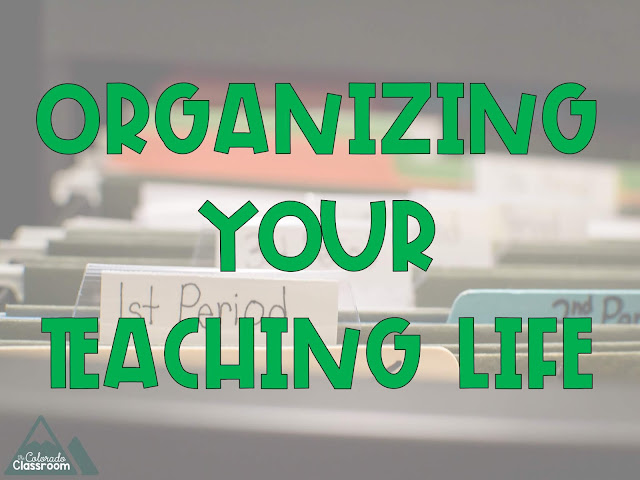 Organizing your Teaching Life