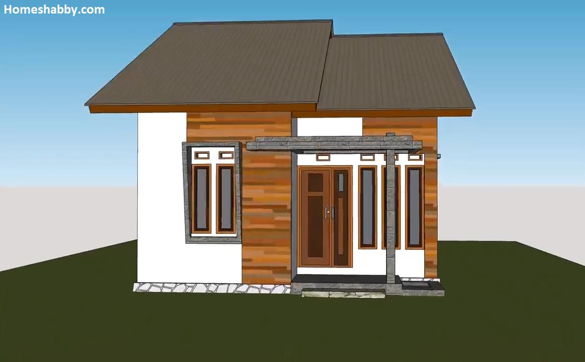 Desain Dan Denah Rumah Minimalis Ukuran 6 X 8 M Sederhana Tampak Lebih Lega  Cocok Untuk Di Desa ~ Homeshabby.com : Design Home Plans, Home Decorating  And Interior Design