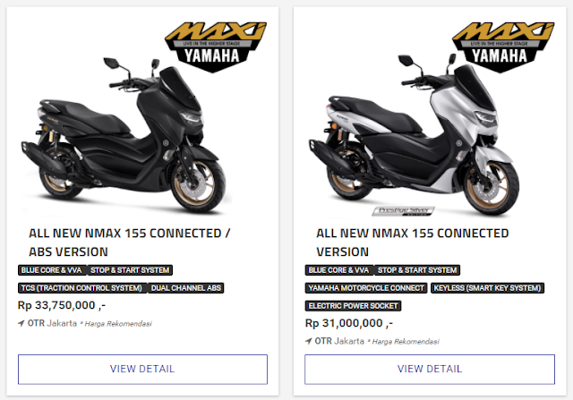 Intip Spesifikasi Nmax 155 Connected versi 2021
