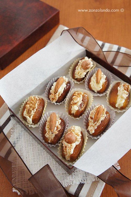 Datteri mascarpone frutta secca ricetta dolce natalizio mascarpone and almond stuffed dates recipe