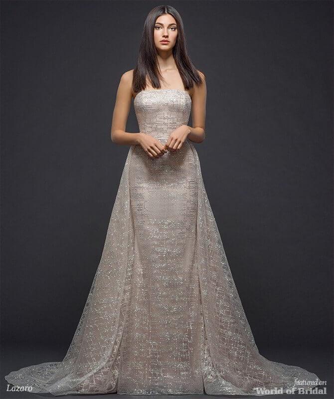 71cc73ffaae3 Lazaro Spring 2018 Bridal Collection - World of Bridal