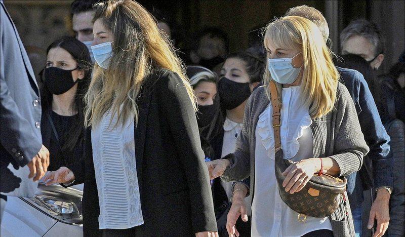 La ex esposa que organizó el funeral de Maradona