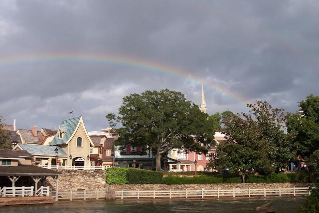 Rainbow Over Liberty Square Magic Kingdom Disney World