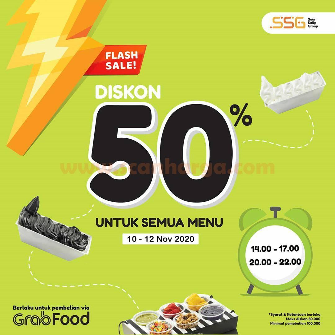 Promo Sour Sally Flash Sale: Diskon 50% All menu via GRABFOOD