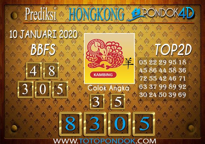 Prediksi Togel HONGKONG PONDOK4D 10 JANUARI 2020