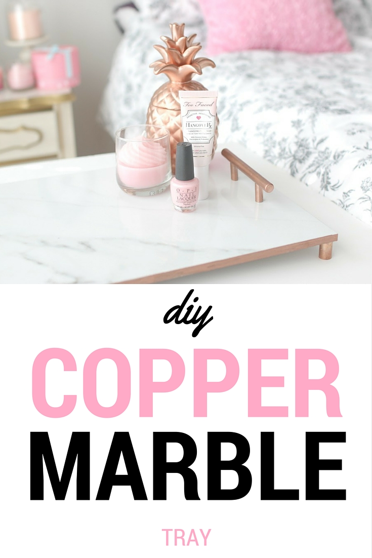 Elle Sees Beauty Blogger In Atlanta Copper Marble Tray Diy