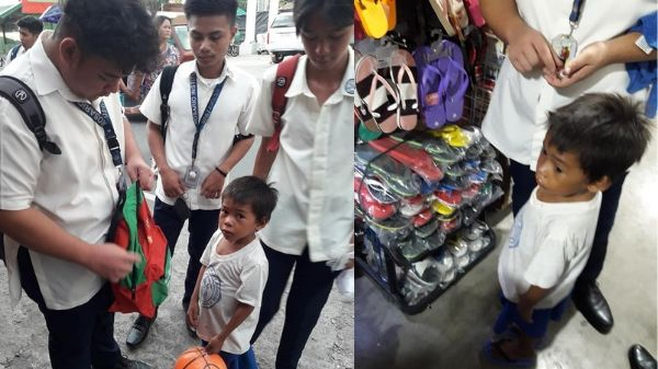 A group of teenage boys helped a poor young student