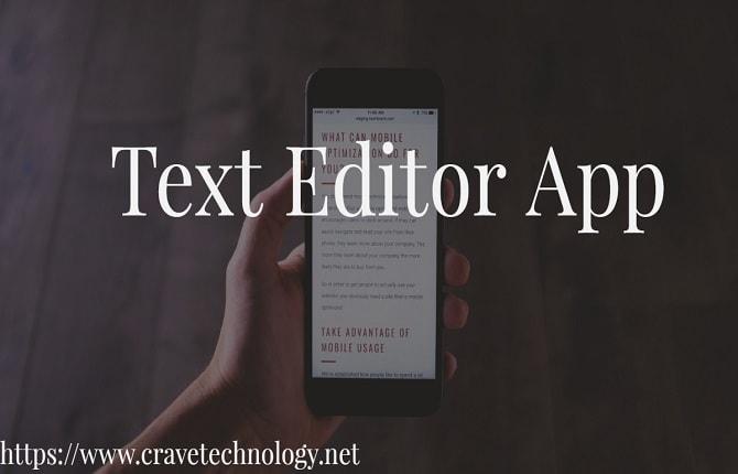 Text Editor App
