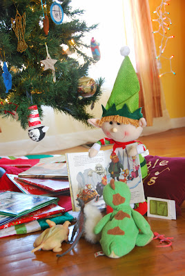 elf on the shelf advent bible study reading a book