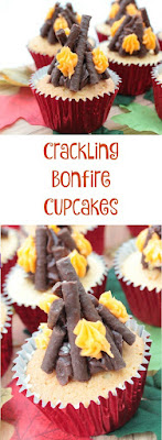 easy to make bonfire cupcakes that crackle when you eat them thanks to the addition of popping candy
