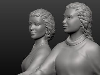 """Sculptural composition """"Two Girls"""""""