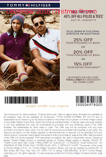 Tommy Hilfiger coupons december